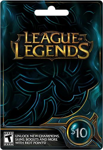 $10 League of Legends Game Card