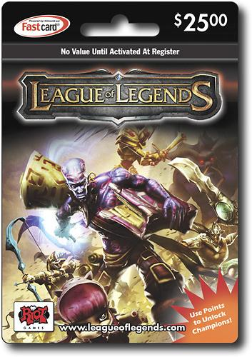 $25 League of Legends Game Card