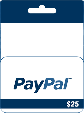 $25 PayPal Gift Card