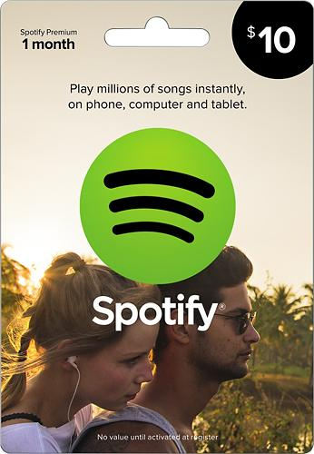 Spotify 1-Month Premium Music Download Card