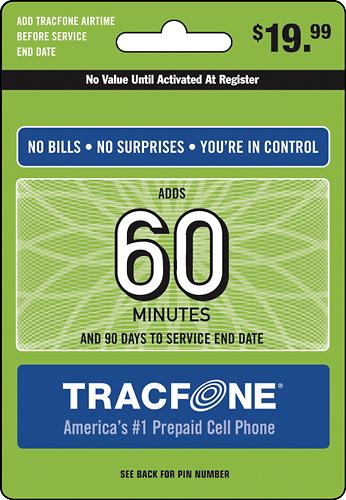 TRACFONE 60-Minute Prepaid Wireless Airtime Card