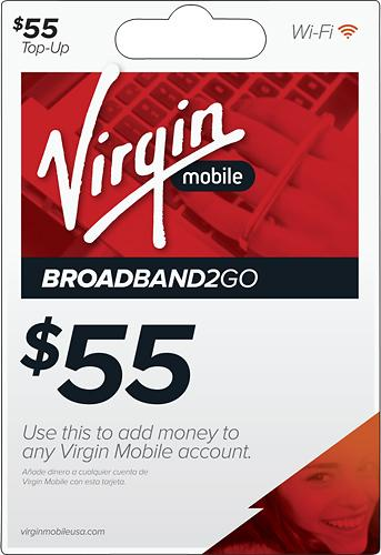 $55 Virgin Mobile Broadband2Go Top-Up Card