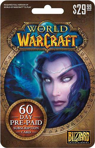 $29.99 World of Warcraft 60-Day Subscription Card
